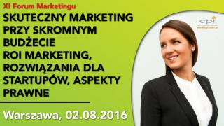XI Forum Marketingu 2 sierpnia.